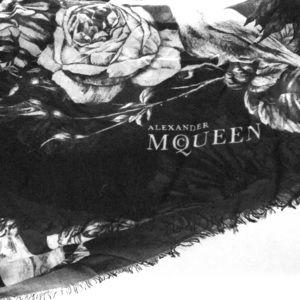 Alexander McQueen Skull+Roses Scarf